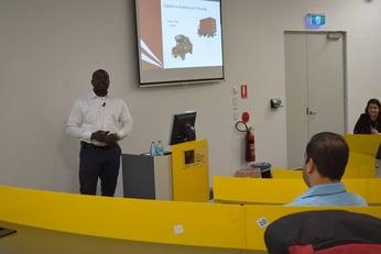 PG Students interact with Hubert Igbinoba