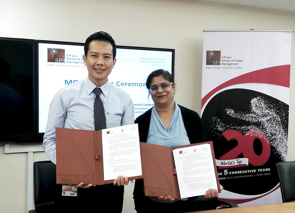 Signs MOU with Maharashtra Mandal Singapore