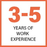 3 to 5 Years of Work Expereince