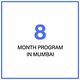 8-month program in Mumbai