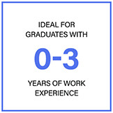 Ideal for graduates with 0-3 years of work experience