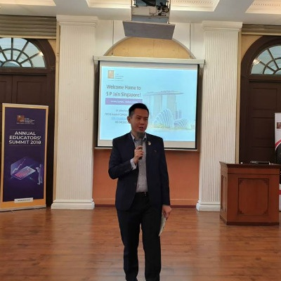 Dr John Fong, CEO & Head of Campus (Singapore), SP Jain, at the Annual Educators' Summit 2018