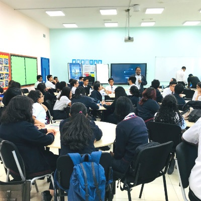 Prof. Christopher Abraham conducts a Design Thinking Workshop at GEMS Winchester School, Dubai