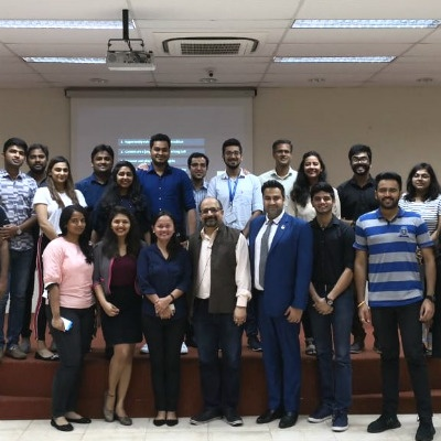 SP Jain students had a great time learning from Mr. Sandeep Khanna (centre) at the Visiting Wisdom - Industry Insights guest lecture