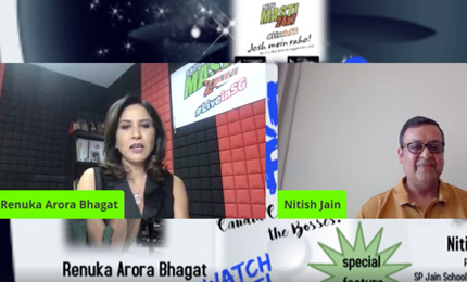 Nitish Jain (President, SP Jain) interviewed by Renuka (Founder, Radio Masti 24x7)