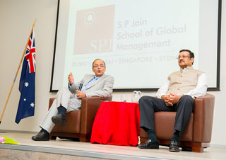 SP JAIN HOSTS INDIAN FINANCE MINISTER HON'BLE ARUN JAITLEY