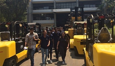 BBA Jags come out of the Forklift training area