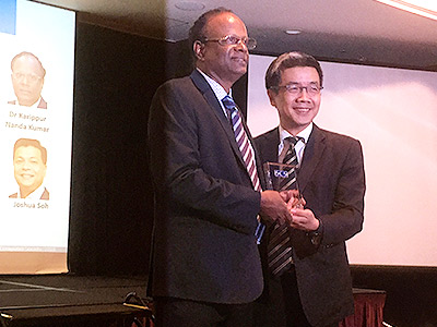 Karippur Nanda Kumar Conferred Fellowship by the Singapore Computer Society