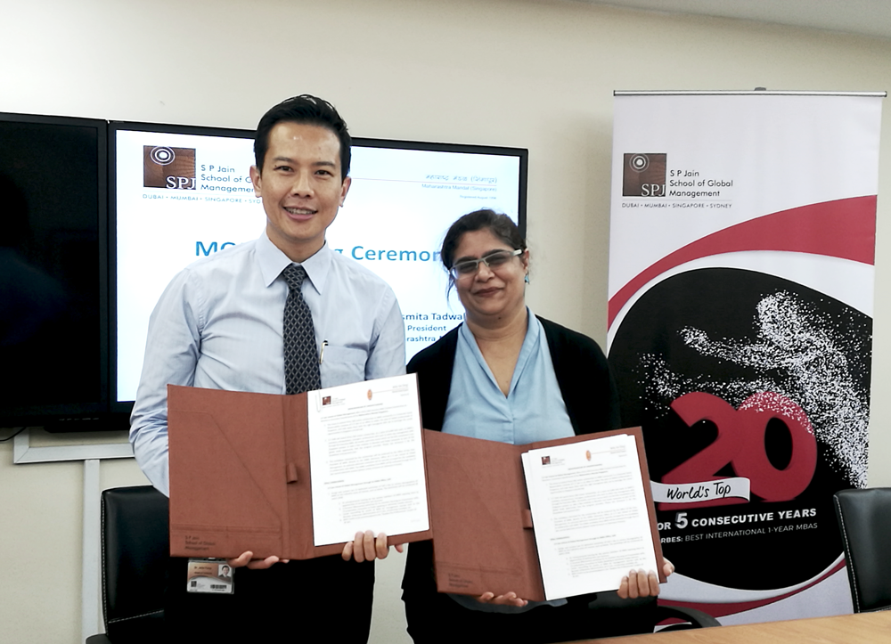 Signs MOU with Maharashtra Mandal Singapore