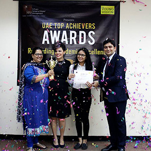 Recognising Excellence – SP Jain Awards 100% Scholarship to Raina Shah, UAE Class 12 Topper