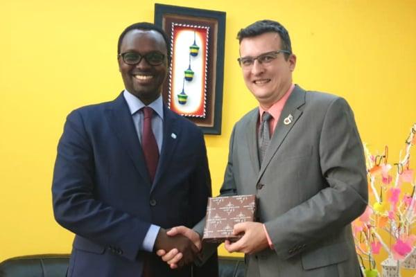 Mr. Emmanuel Hategeka (left), COO of Rwanda Development Board, visited SP Jain's Dubai campus and met with Mr. Marko Selaković, Director – Institutional Development & Student Recruitment (Dubai Campus) at SP Jain