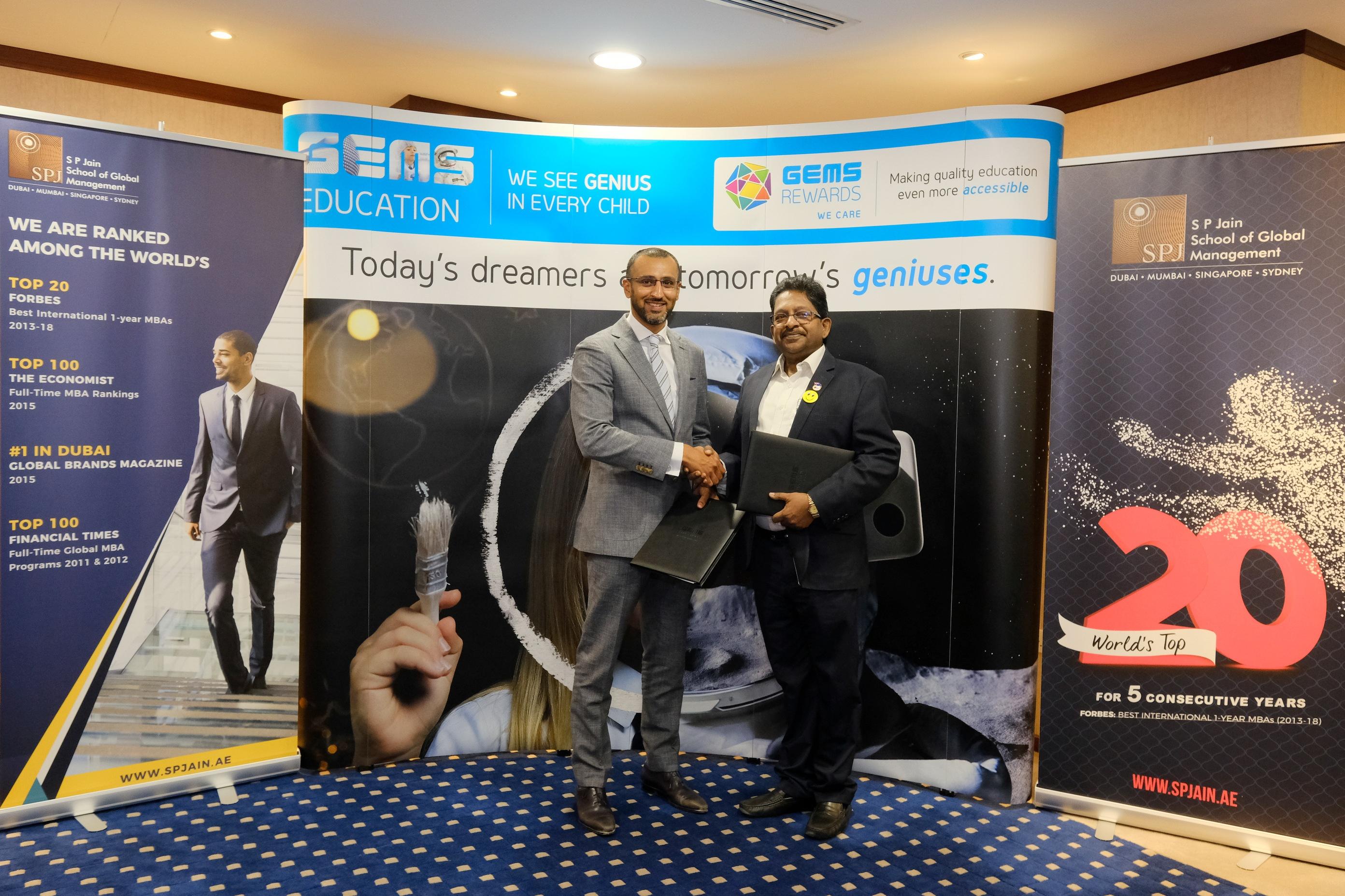 SP Jain Dubai Signs MOU with GEMS Education
