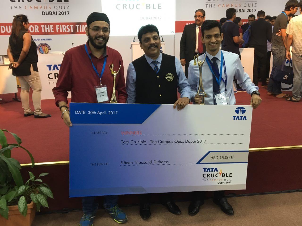 SPJain Winners at Tata Crucible Quiz Dubai.jpg