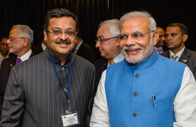 SP JAIN PRESIDENT AMONG TOP LEADERS TO ACCOMPANY THE INDIAN PM TO AUSTRALIA