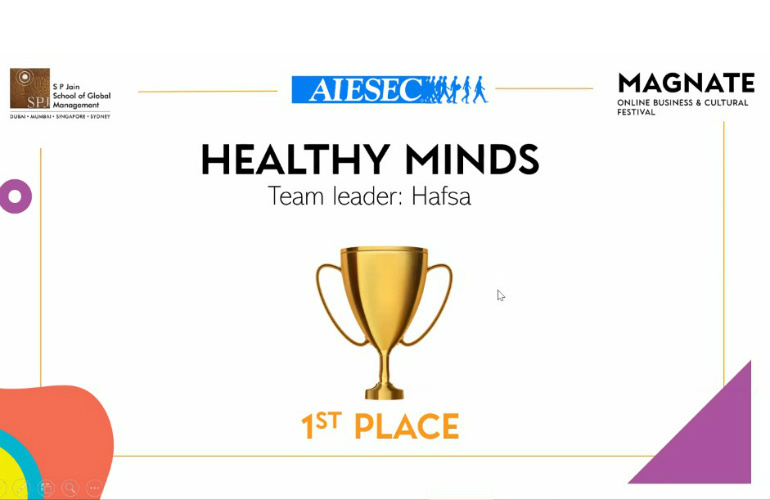 Hafsa Ahmed & Team from New York University Abu Dhabi win the 1st place in Involve