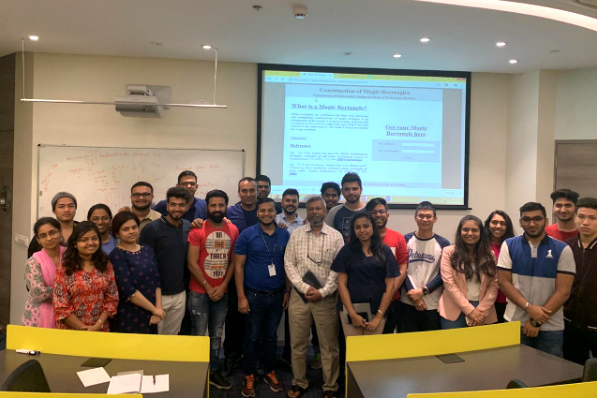 Dr. Ashish Das (centre), Professor of Statistics - IIT Bombay, interacted with the Bachelor of Data Science students at SP Jain School of Global Management's Mumbai campus