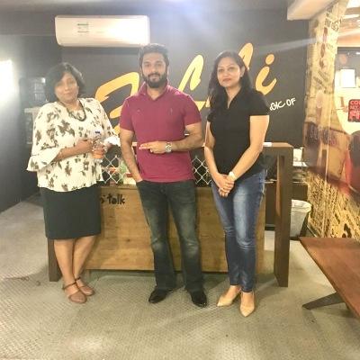 Dr. Geetanjali Chandra, Program Head of Law, Amity University Dubai; Mr. Rafih FiLLi, Founder and CEO - FiLLi Café; Dr. Kirti Khanzode, Deputy Director - UG Programs (Dubai) and Associate Professor - Communication at SP Jain