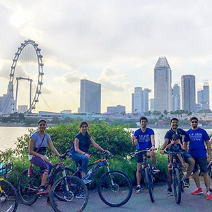 Cycling Across the East Coast Parkway - Alumni Community comes together at Singapore