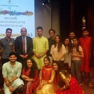 India in Dubai - UG Students at Dubai Visit Consulate General of India