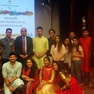 India in Dubai - UG Students at Dubai Visit Consulate General of India