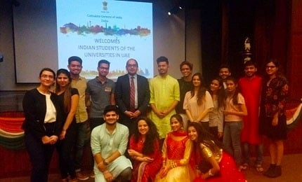 Undergraduate students in Dubai visit Consulate General of India