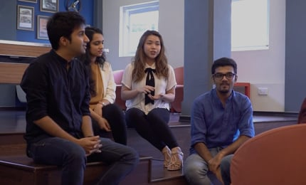 MGB students and staff talk to Salaam Namaste, Singapore about the tri-city experience