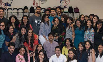 Students and Faculty come together for Luxury Management Program's Fresher's Day Party