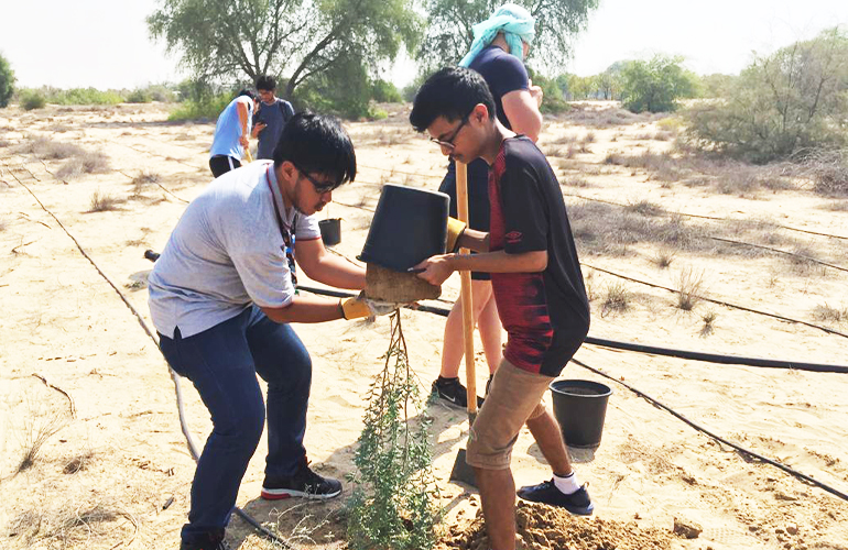 Jaguars plant 100 Ghaf trees dedicated to Climate Action for Peace
