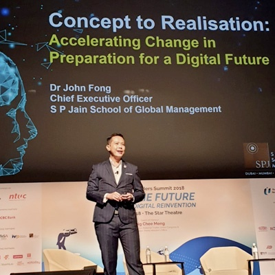 SP Jain Singapore presents at the NTUC U Future Leaders Summit 2018