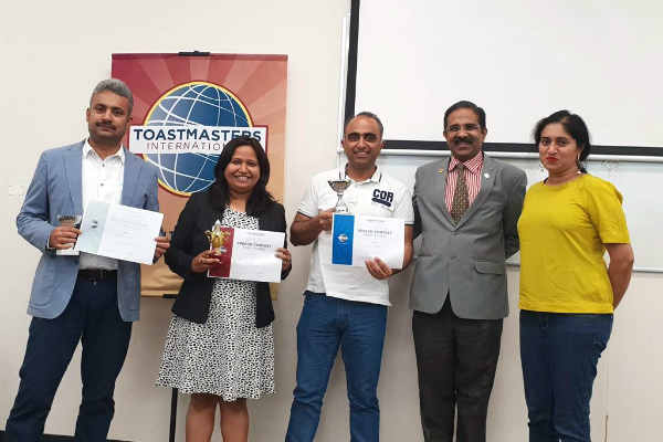 SPJ Toastmasters Club in Dubai hosts its 2nd Annual Public Speaking Internal Club Contest